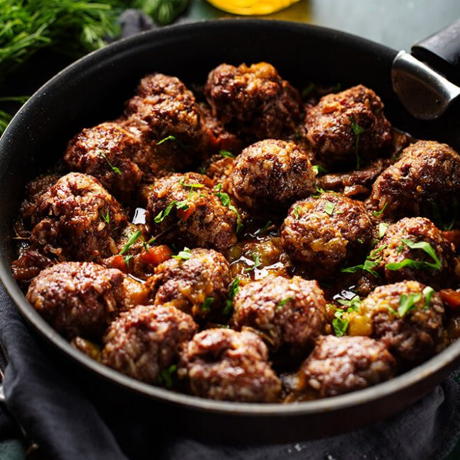 MeniuFamilie.ro by Elegant Catering - Chiftele de vită cu tarhon