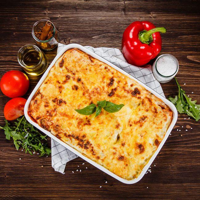MeniuFamilie.ro by Elegant Catering - Lasagna cu sos bechamel 1kg
